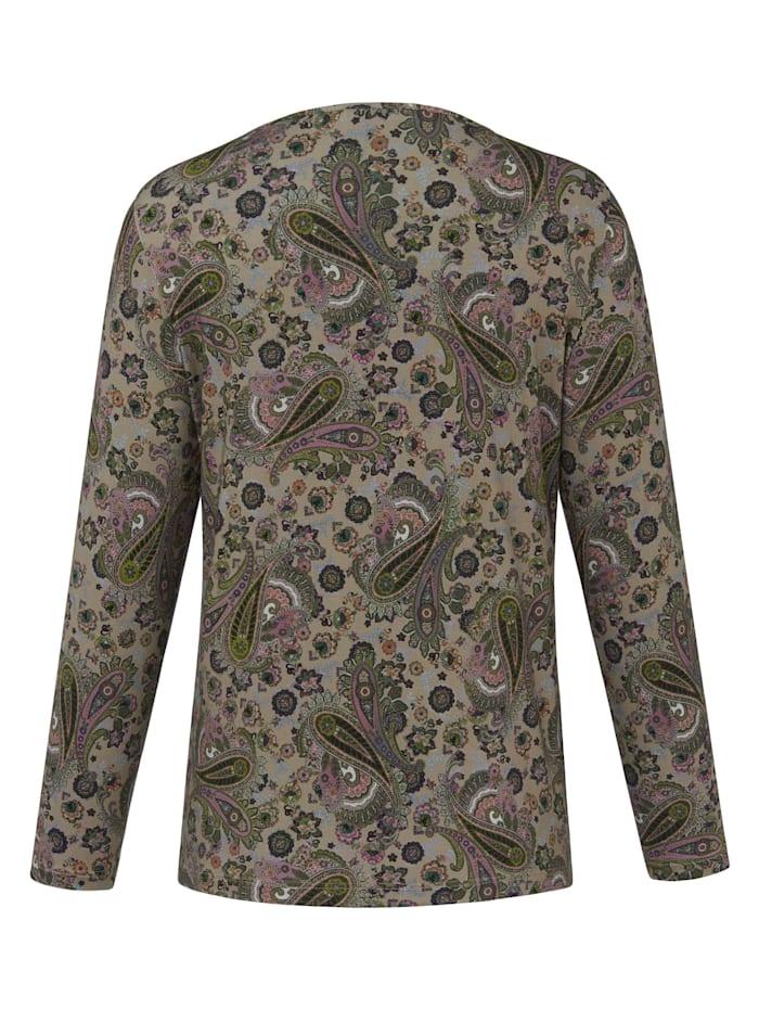 Langarmshirt Shirt mit Rundhals-Ausschnitt .