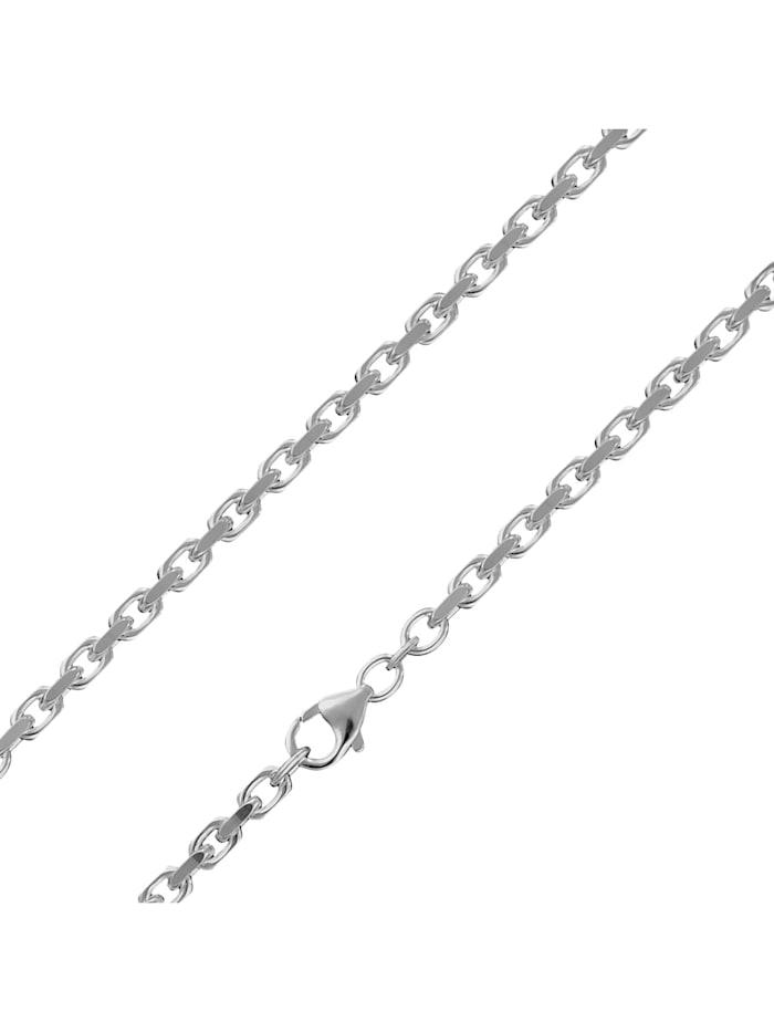 trendor Silberkette für Herren 925 Sterlingsilber Ankerkette 3,0 mm, Silberfarben