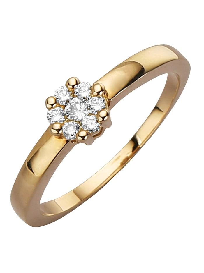 Diemer Diamant Damenring mit Brillanten, Gelb