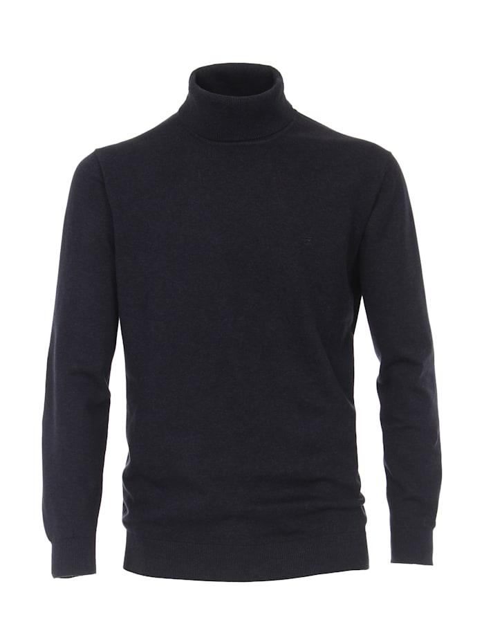 CASAMODA Rollkragen-Pullover uni, Dunkelblau