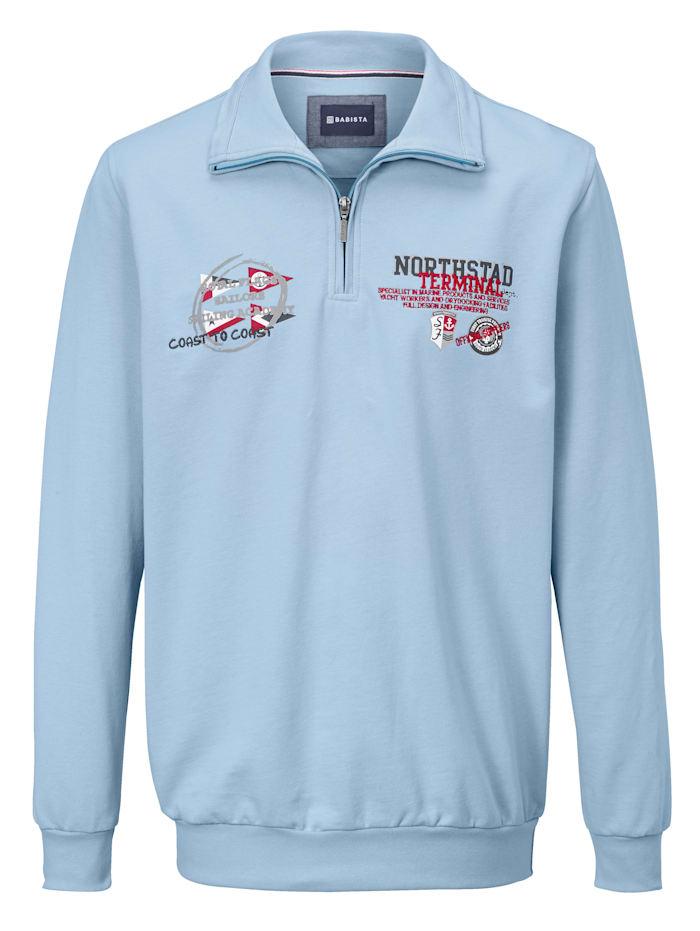 BABISTA Sweatshirt van zuiver katoen, Lichtblauw