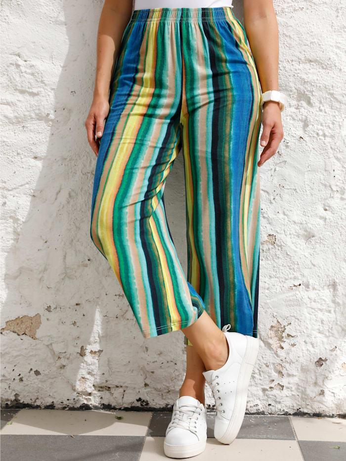 MIAMODA Culotte met comfortabele instapband, Geel/Blauw/Groen