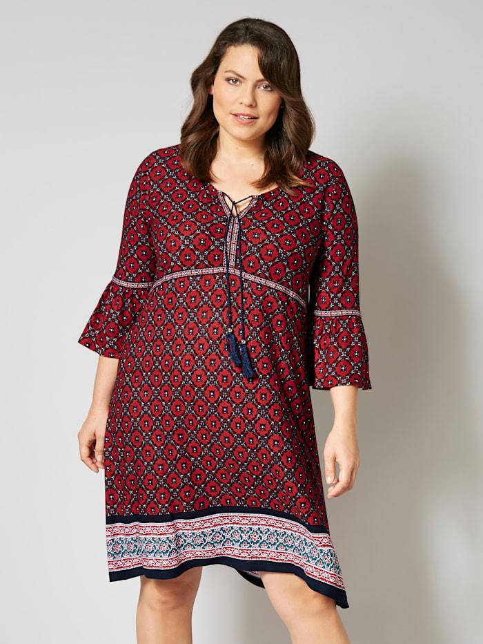 Kleid mit Bordürendruck