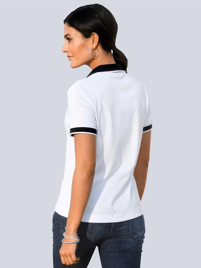 Poloshirt mit Wappenstickerei im Brustbereich