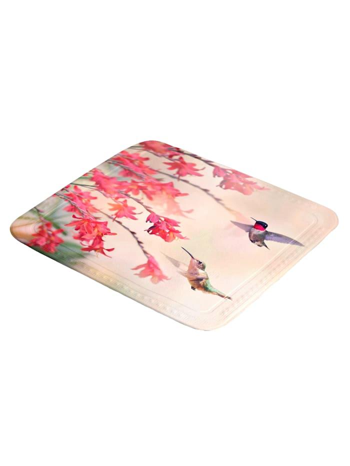 Kleine Wolke Tapis de douche anti-dérapant 'colibri', Multicolore