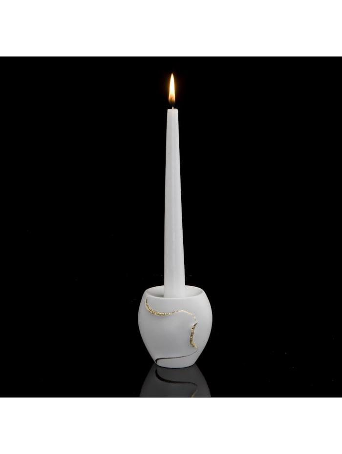 Kaiser Porzellan Kaiser Porzellan Kerzenhalter Montana, weiß-gold