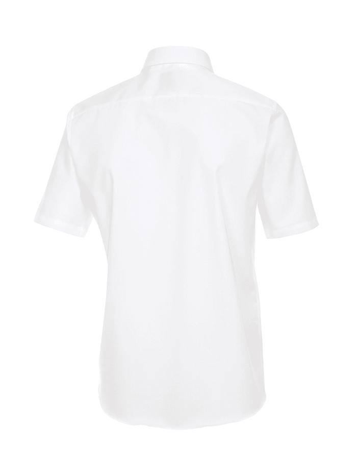 Hemd Halbarm uni Modern Fit Hemd mit Brusttasche