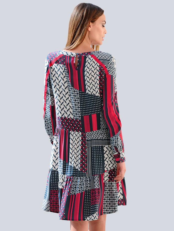 Kleid im excklusiven Dessin nur bei Alba Moda erhältlich