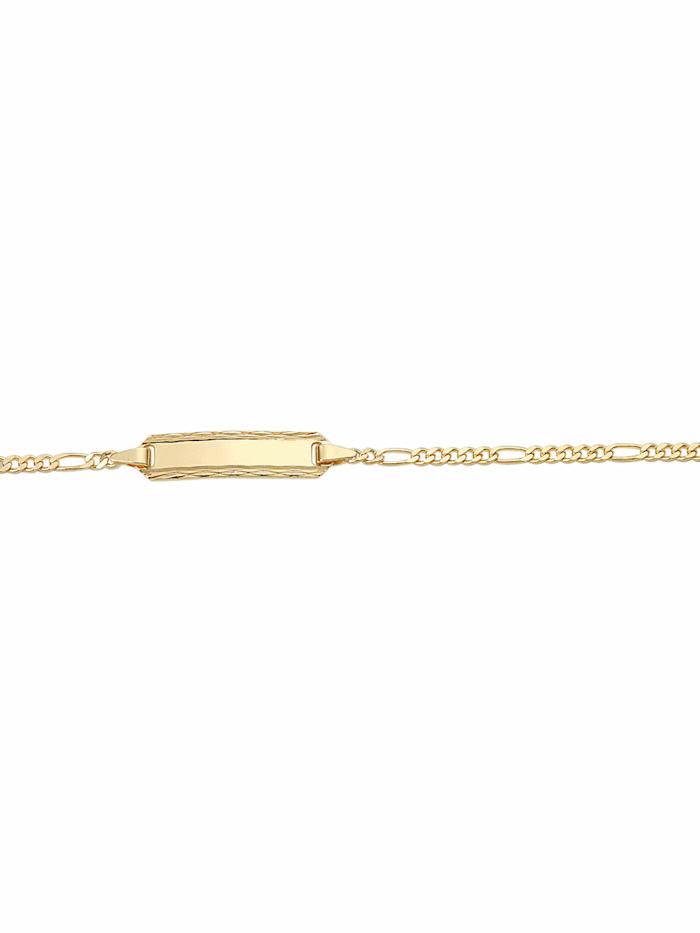 1001 Diamonds 1001 Diamonds Damen Goldschmuck 333 Gold Figaro Armband 14 cm, gold