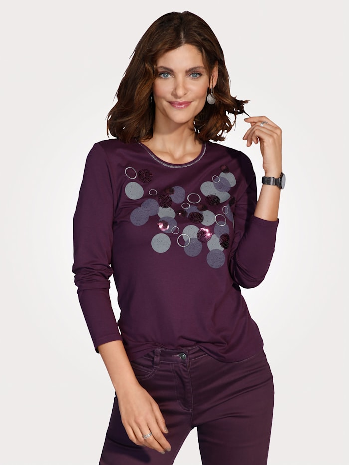 Barbara Lebek T-shirt avec fil brillant et paillettes, Baies
