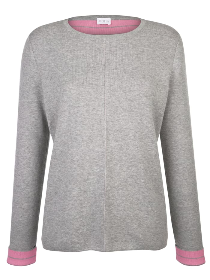 Jumper with contrast detailing