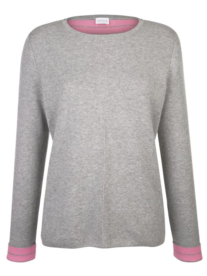 Pullover in Kontrast-Verarbeitung