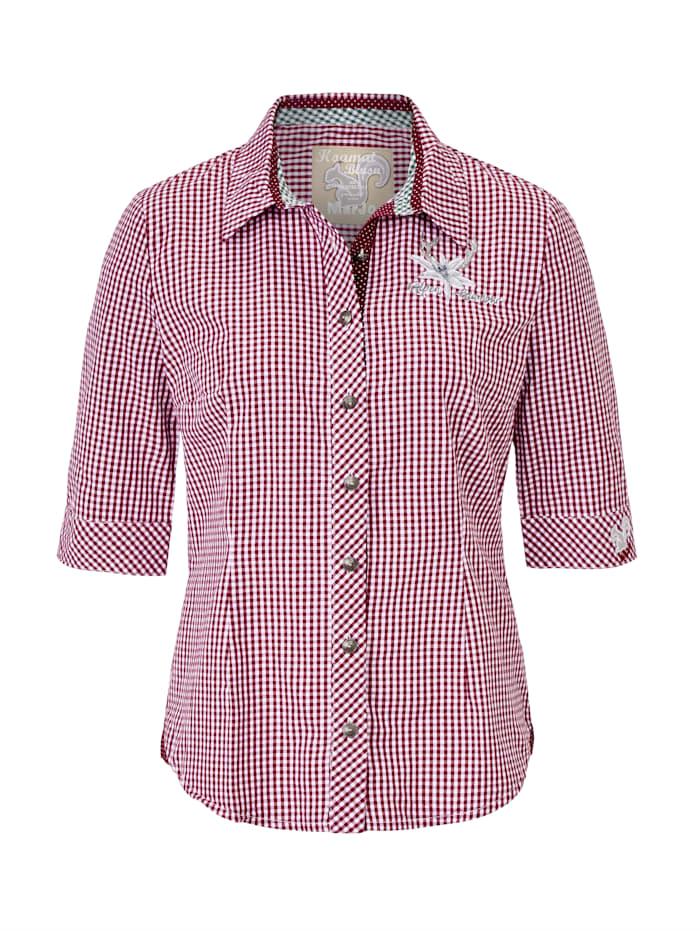Marjo Leder & Tracht Bluse, Rot