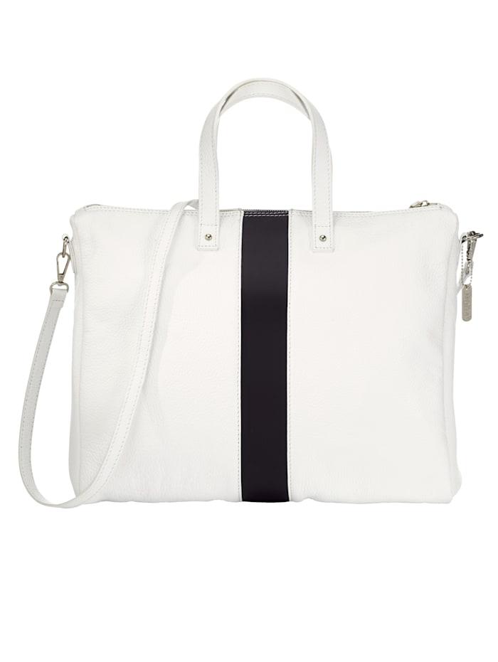MONA Tas in elegant design, wit/zwart