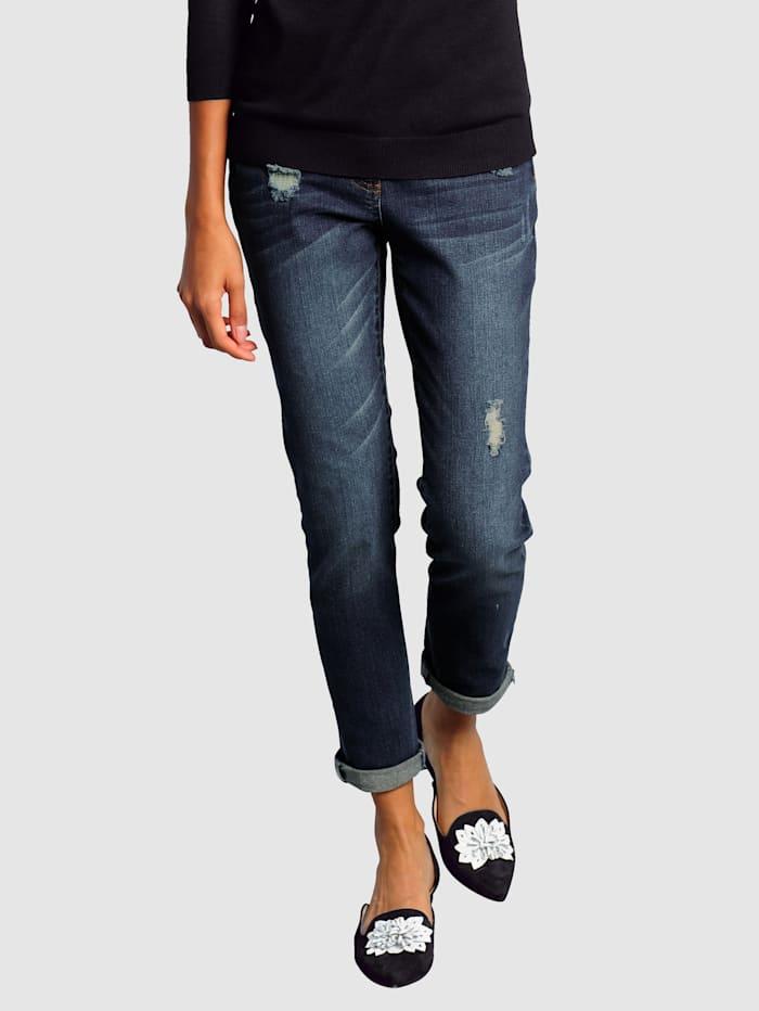 Alba Moda Jeans i boyfriend-modell, Blå