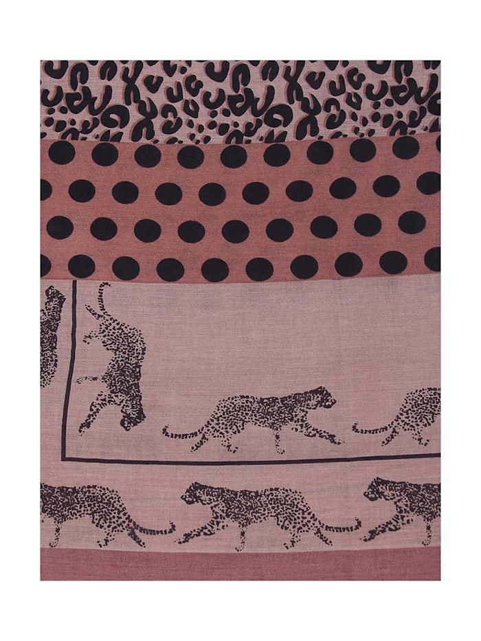 Schal mit ausgefallenem Leoparden-Print