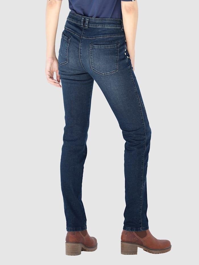 Jeans med tvättade effekter