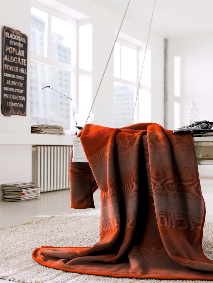 biederlack Wohndecke 'Cotton Home', rot