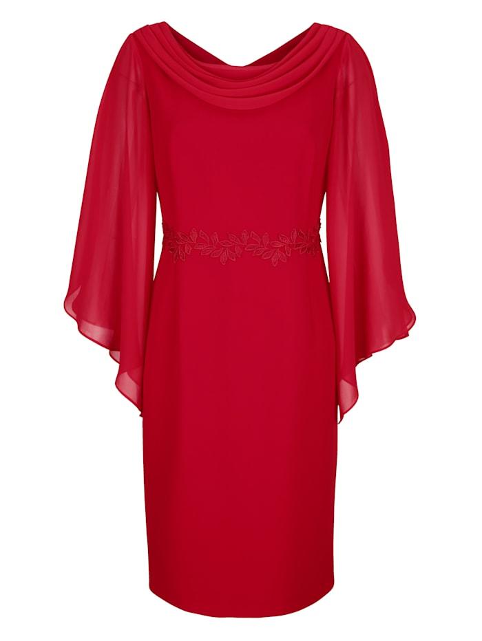 Kleid mit Chiffon-Ärmeln