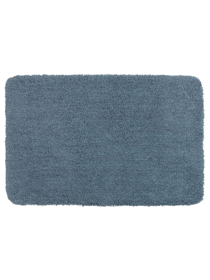 Wenko Badteppich Mélange Marine Blue, 55 x 65 cm, Mikrofaser, Polyester/Mikrofaser: Blau