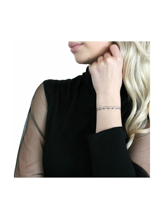 Armband für Damen, Silber 925 | blau