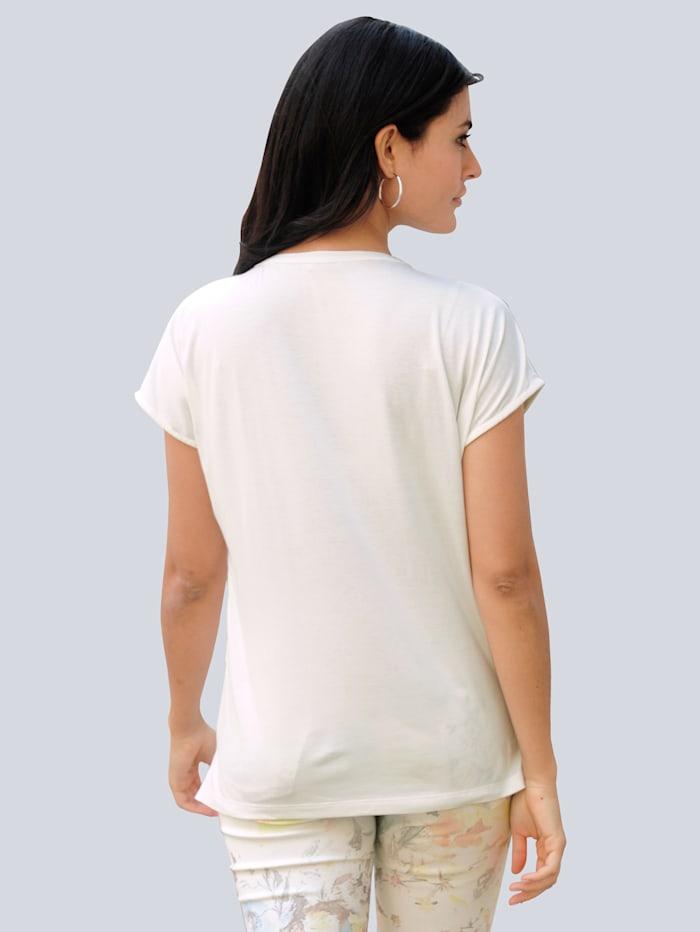 T-shirt en matières mélangées