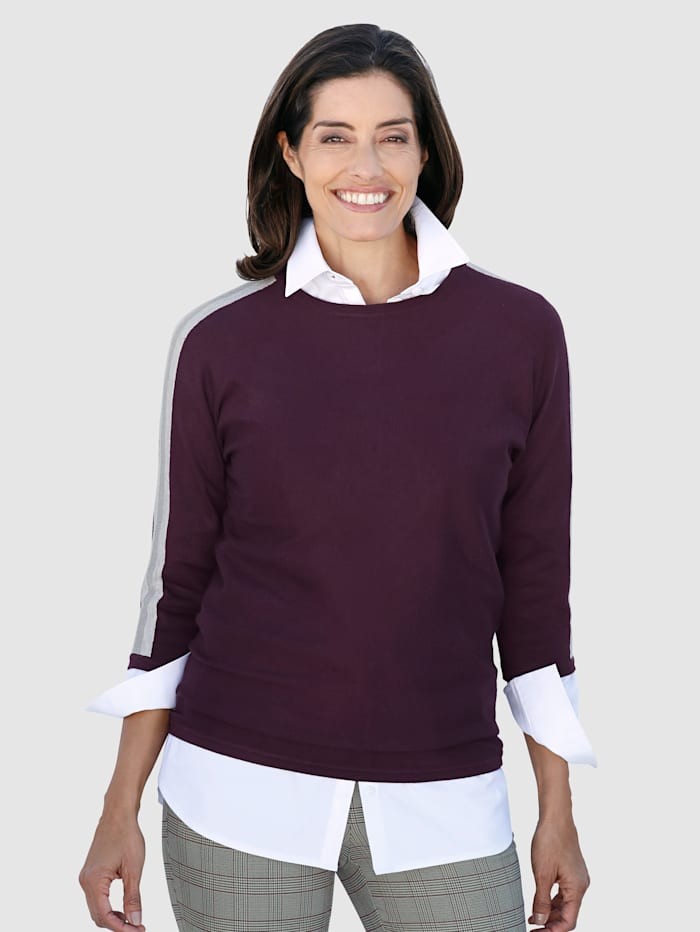 Pullover mit metallisiertem Garn