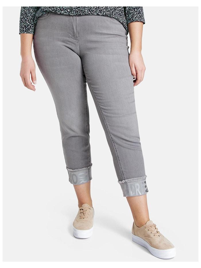 Samoon 7/8 Betty Jeans mit Turn-up, Light Grey Denim