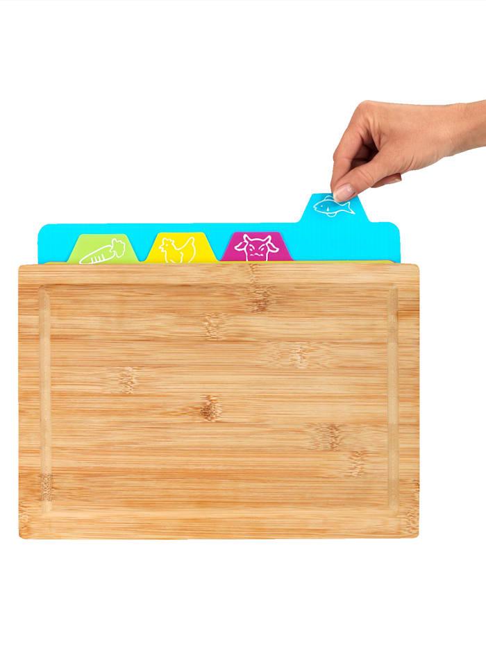 Wenko 5-delige snijplankenset met vier snij-inzetten, multicolor