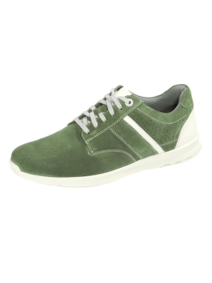 Jomos Derbies de style sport, Vert/Blanc