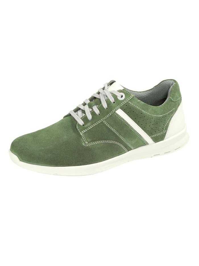 Jomos Veterschoen in sportieve stijl, Groen/Wit