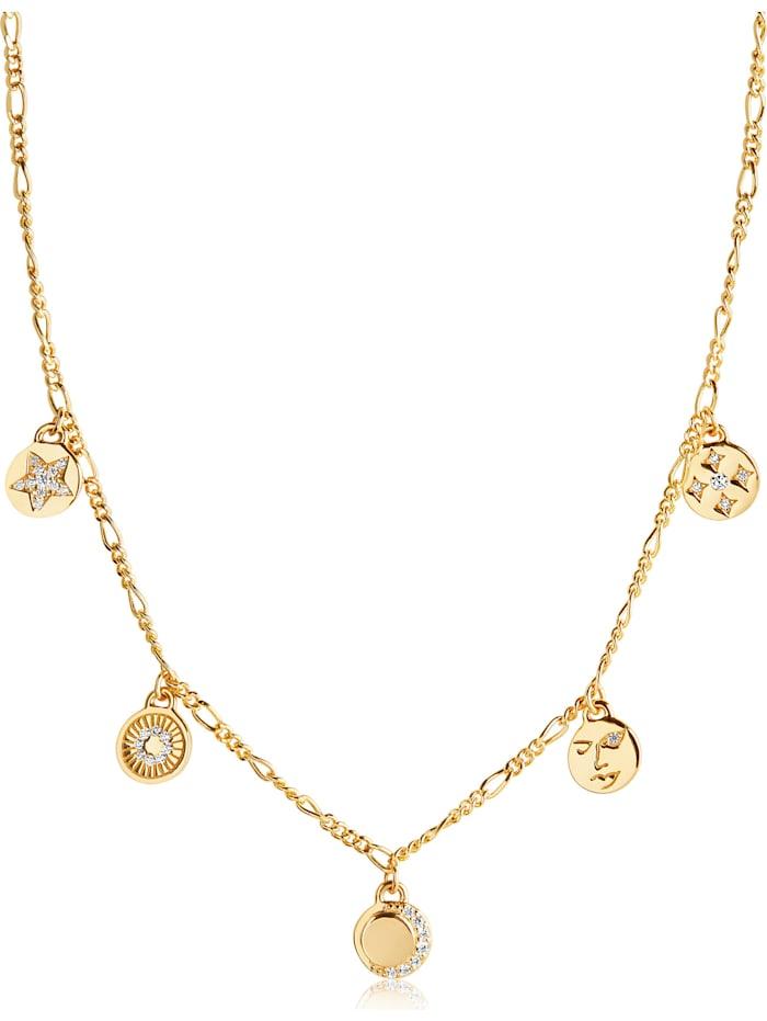 Sif Jakobs Sif Jakobs Jewellery Damen-Kette 925er Silber Zirkonia, Gelbgold