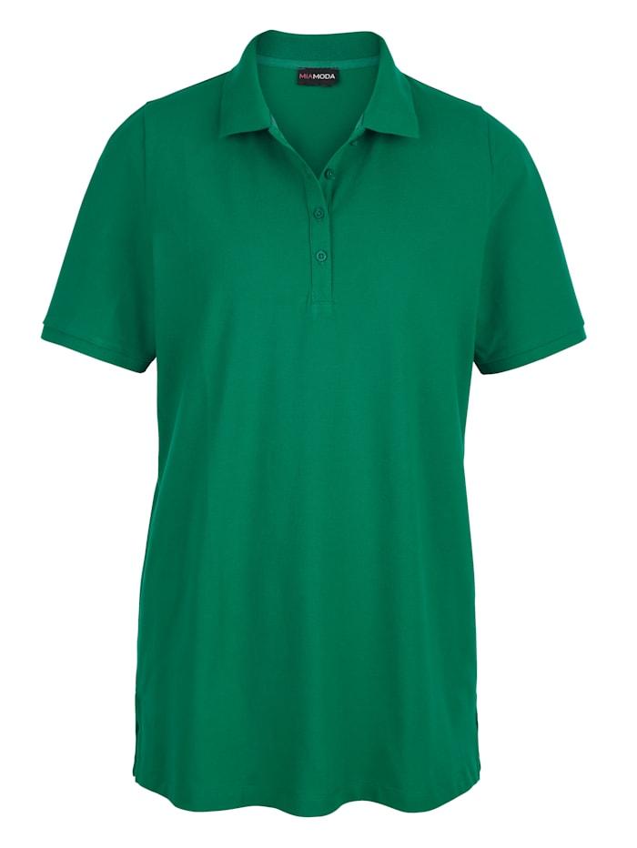 Poloshirt aus leicht strukturiertem Baumwollmaterial