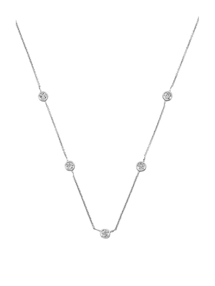 Halsband med diamanter, Silverfärgad