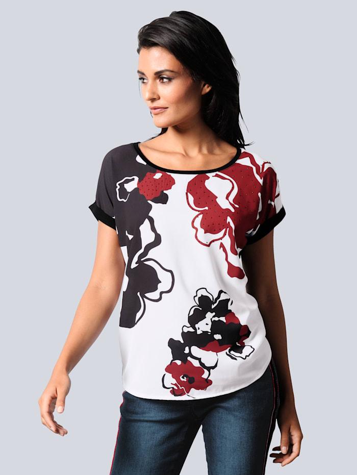 Shirt mit dekorativem Blumendruck
