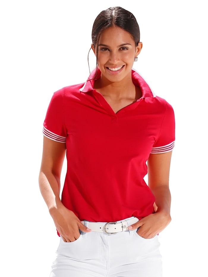 Poloshirt mit Strickbündchen