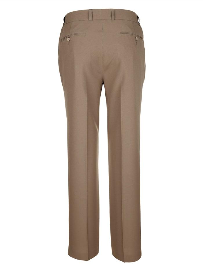 Pantalon coupe flatfront à taille élastiquée froncée aux côtés
