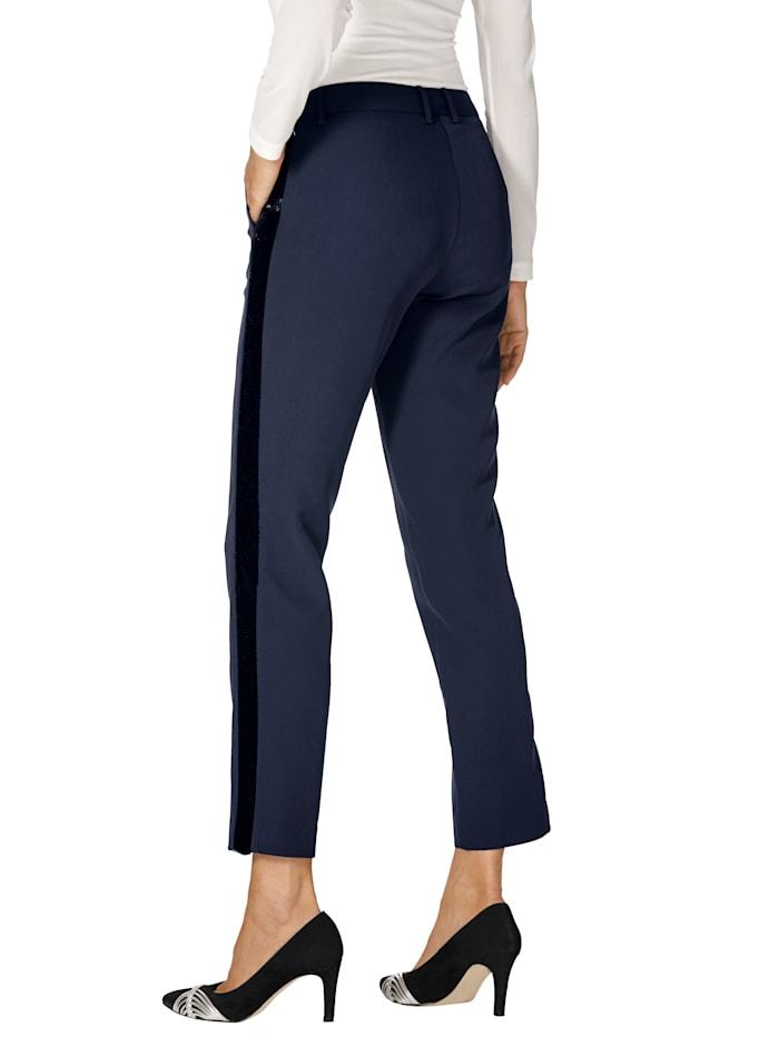Pantalon à galon en paillettes réversibles