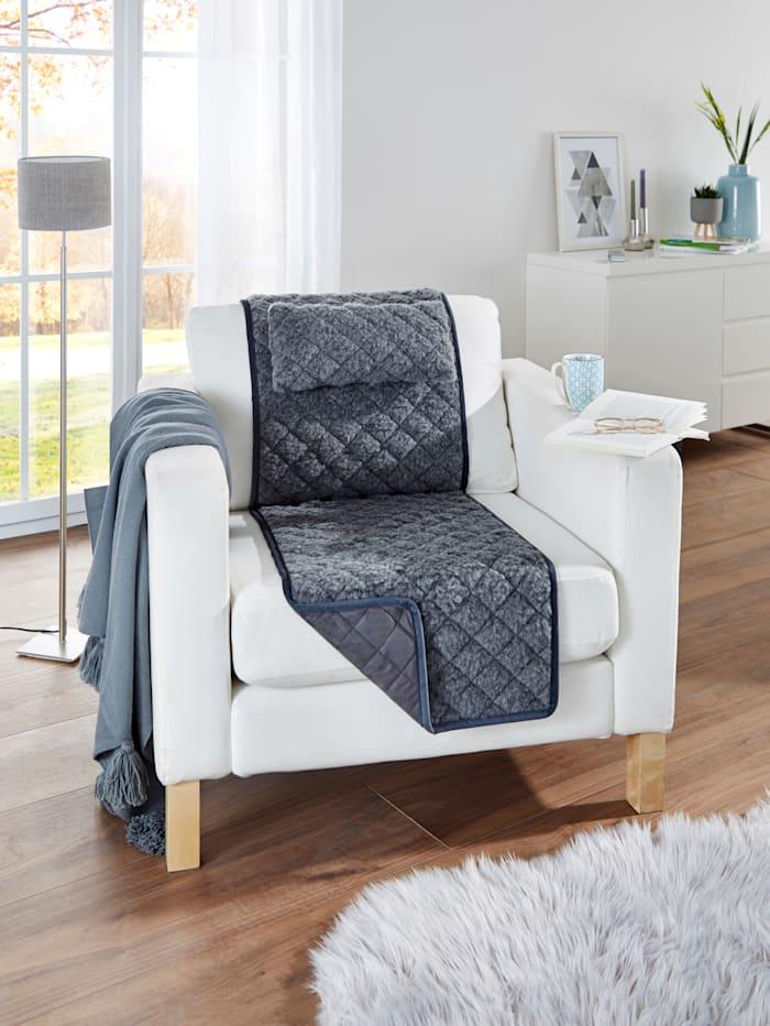 Protège-fauteuil avec petits coussins