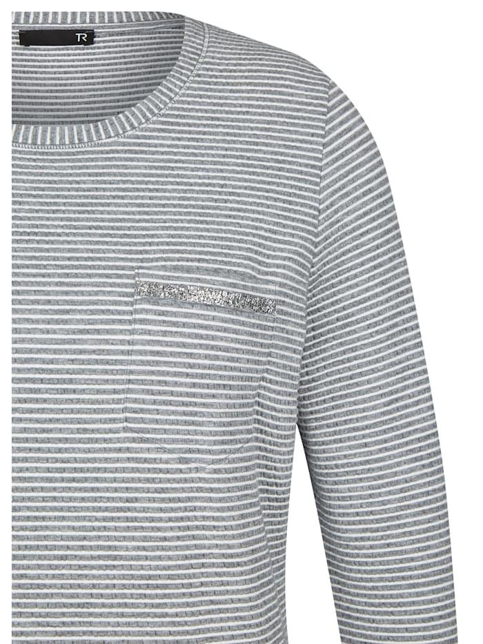 Shirt mit Streifenmuster und Brusttasche