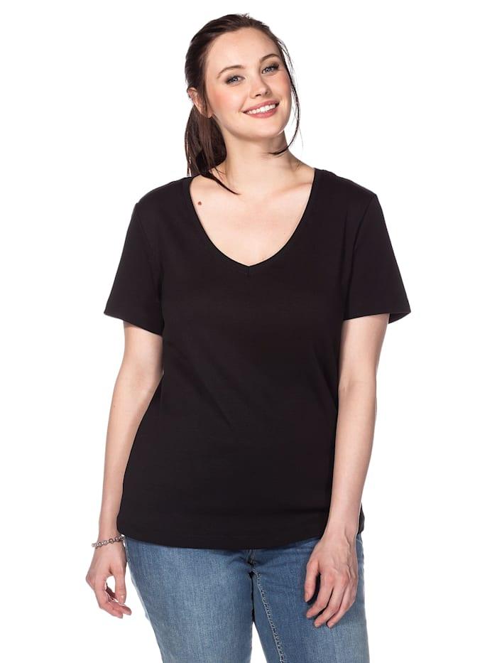 Sheego Sheego T-Shirt, schwarz