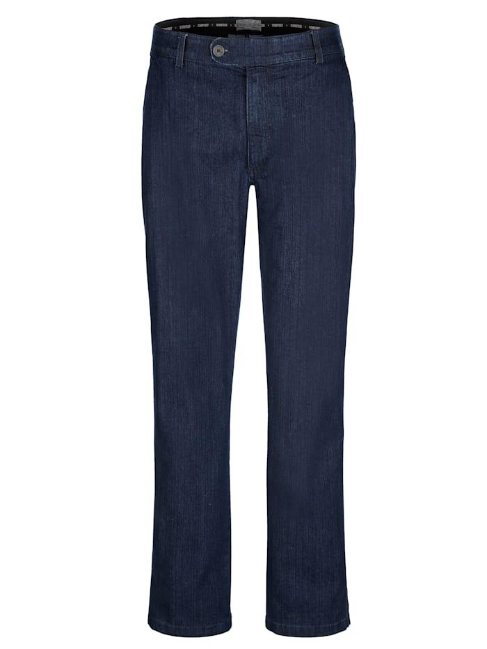 Roger Kent Jean sans pinces à ceinture élastique, Dark blue