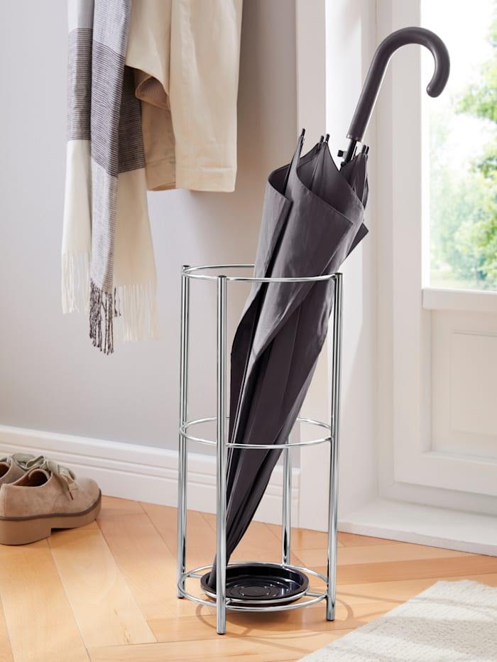 Zeller Metalen paraplubak, zilverkleur
