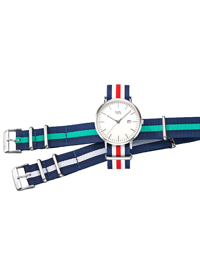 Meister Anker 3tlg Uhrenset, Silberfarben