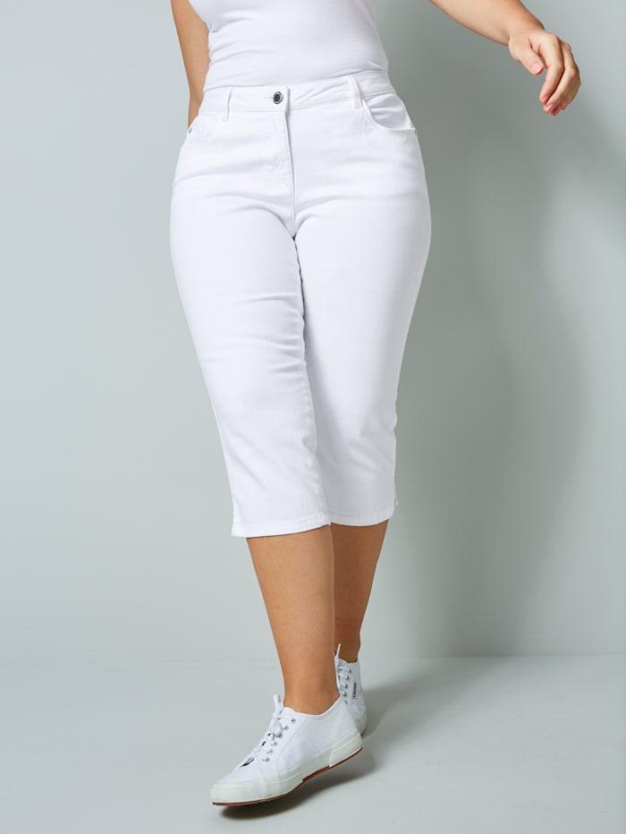 Janet & Joyce Caprijeans im 5-Pocket-Style, Weiß