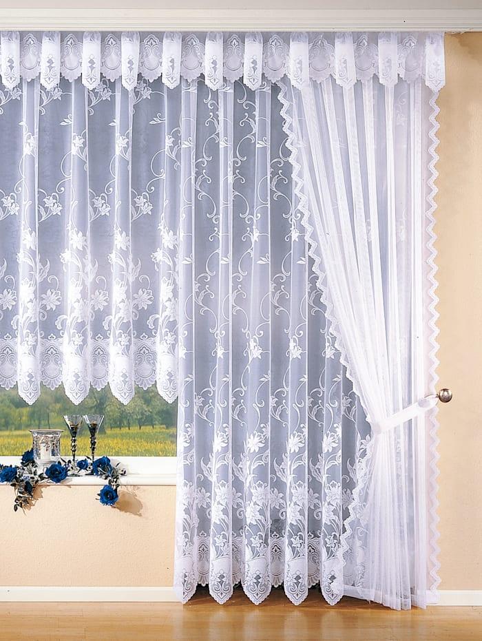 Záclona s univerzální kolejnicí
