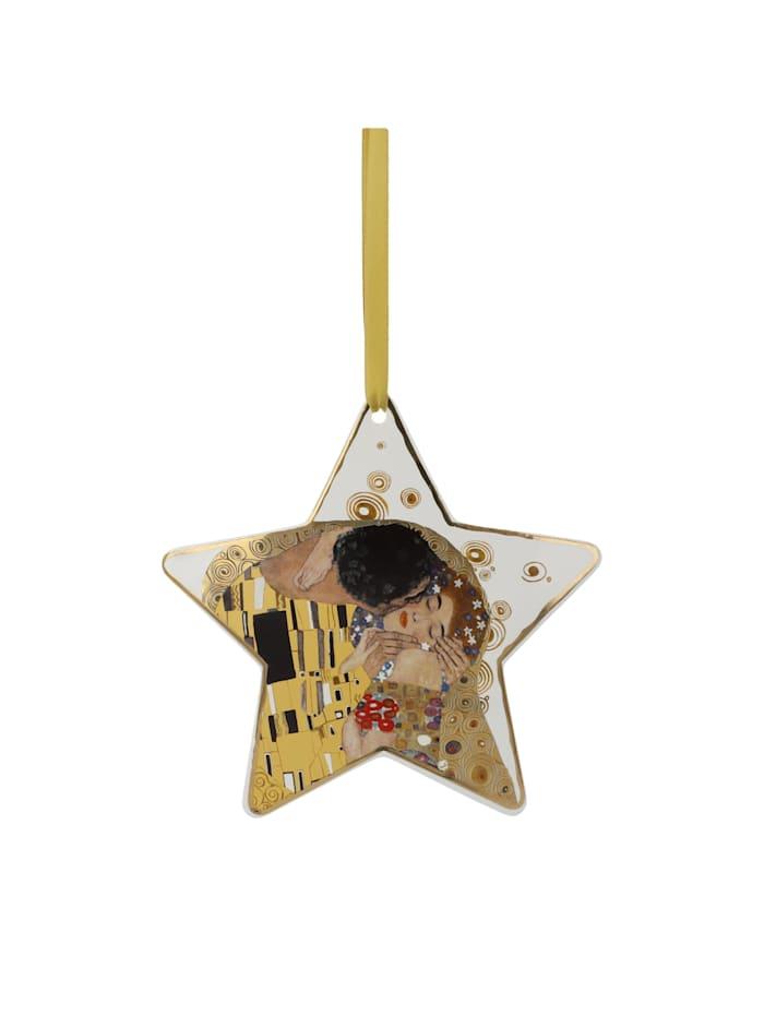 Goebel Goebel Hängeornament Gustav Klimt - Der Kuss weiß, Klimt - Kuss