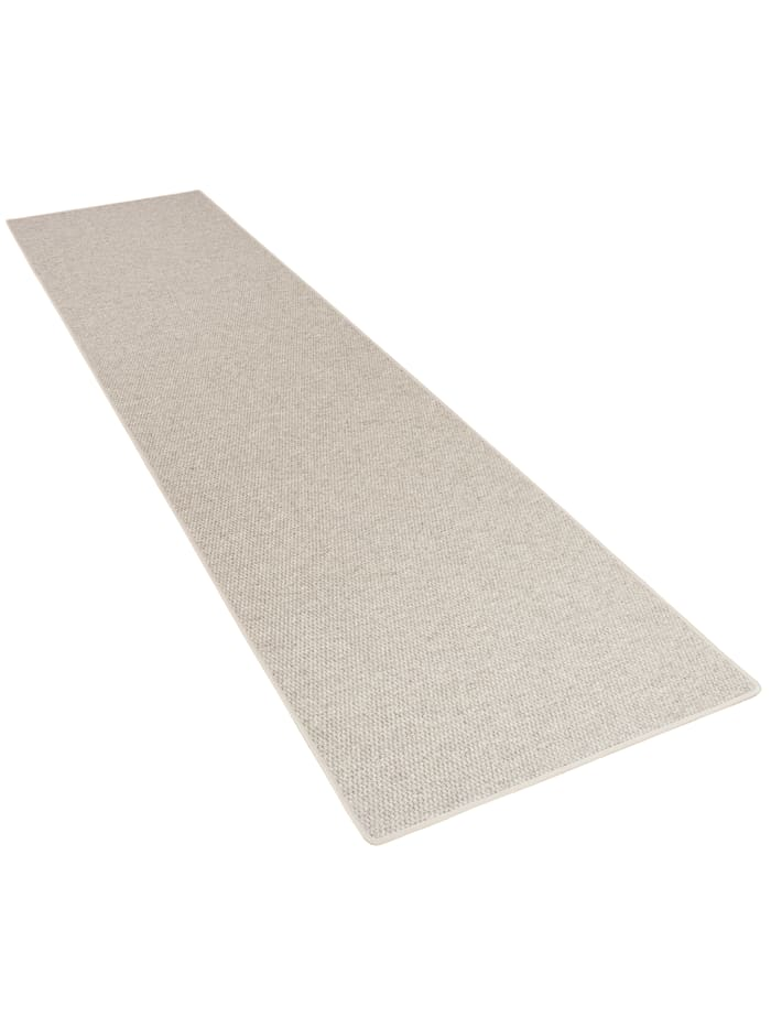 Läufer Natur Teppich Wolle Bentzon Flachgewebe