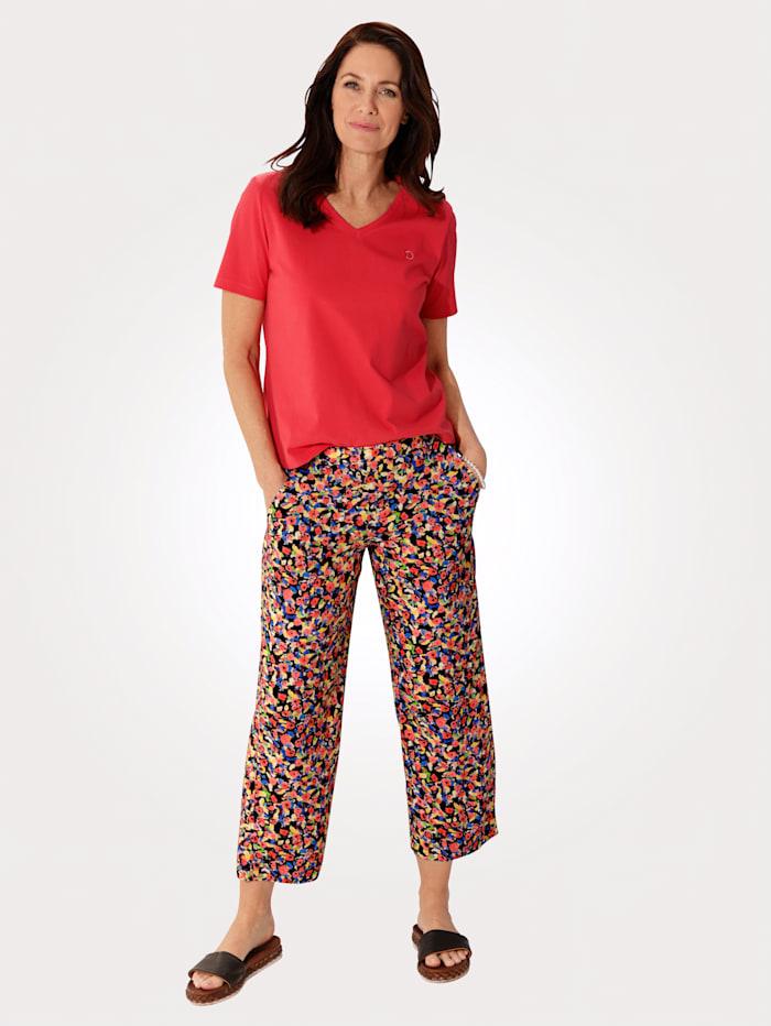 Pantalon 7/8 à imprimé floral