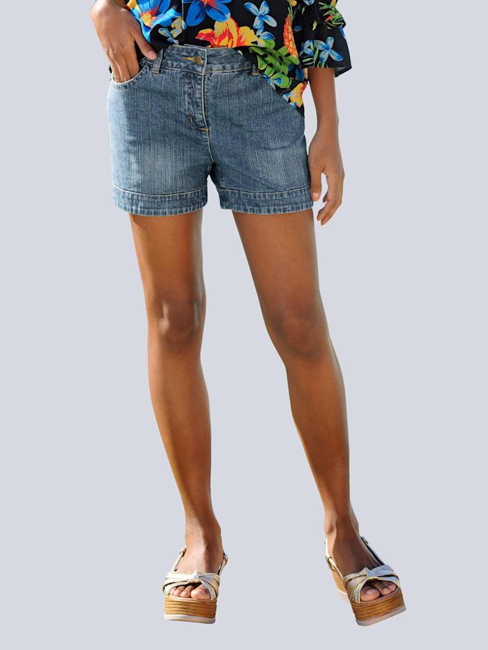 Alba Moda Jeans-Shorts im Freizeit-Look, Blau